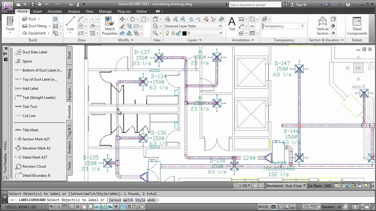 annotating drawings autocad mep 2013 [ 1280 x 720 Pixel ]
