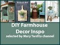 DIY Farmhouse Decor Projects - Farmhouse Rustic Home Decor