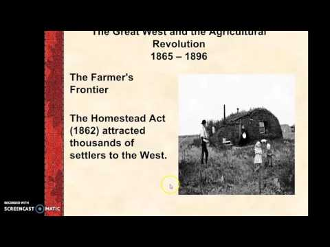 HIstory 17B - Chapter 26 - The Great West and the Agricultural Revolution