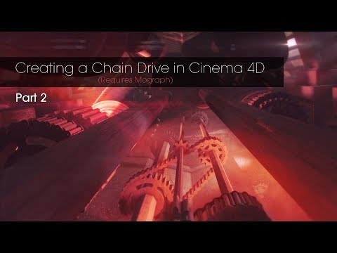 How to create an Animated Chain Drive in Cinema 4D Tutorial