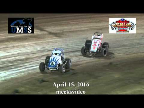 April 15, 2016 UMSS Non Wing Sprints Cedar Lake Speedway