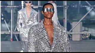 [MODEL] - Mayowa Nicholas walks the catwalk for the Balmain runway show