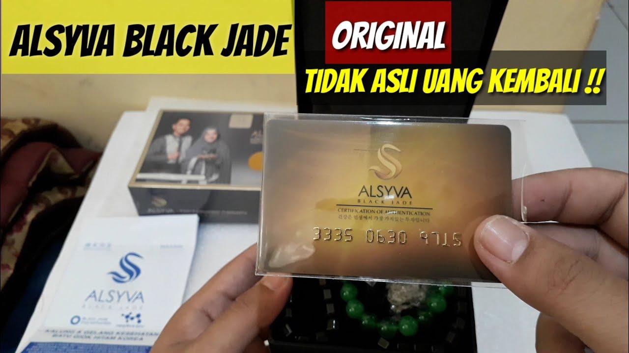 Unboxing Alsyva Black Jade Asli Kalung Dan Gelang Kesehatan Untuk