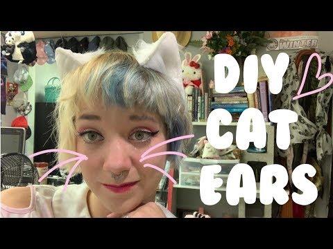 DIY Faux Fur Cat Ears! | Messy Kitty |