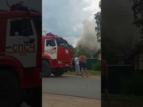 Пожар в Твери, пос. им. Крупской