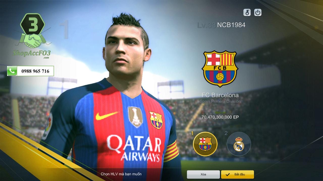 Mua Bán Acc Fifa Online 3 VIP | Torres E8 +5 - Vidic U10 +5 - Carlos U6 +5  - 250 Tỷ| Shopaccfo3.com - YouTube