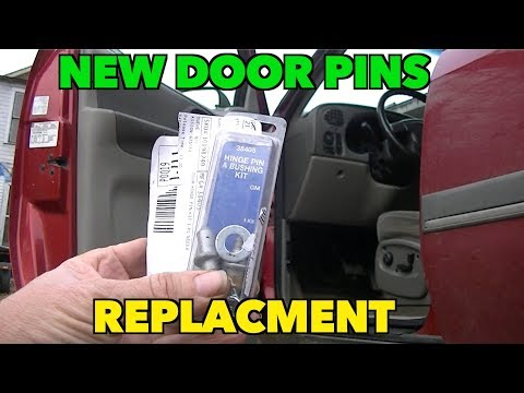 How to Replace Door Hinge Pins (detailed version) and fixing wind Noise. TrailBlazer.