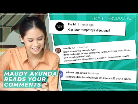 Maudy Ayunda Reads Your Comments | Aku Sedang Mencintaimu