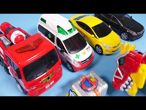 Thumbnail: TOBOT R CarBot car toys with Dinosaur Power Rangers toy