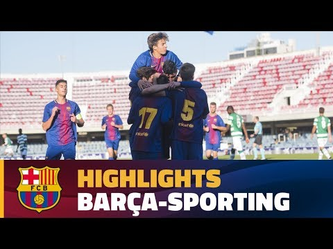 [HIGHLIGHTS] YOUTH LEAGUE: FC Barcelona – Sporting (1-1)