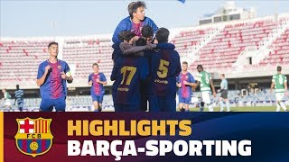 Video Gol Pertandingan FC Barcelona U-19 vs Sporting CP U-19