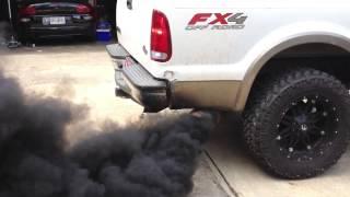 SCT tuned F-250 Rollin Coal