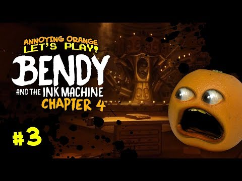 Bendy Ch 4 #3: MERRY GO ROUND BROKE DOWN! [Annoying Orange Plays]