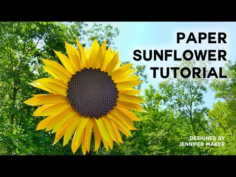 Make a Giant Paper Sunflower Tutorial (with Fibonacci Sequence Seed Head)
