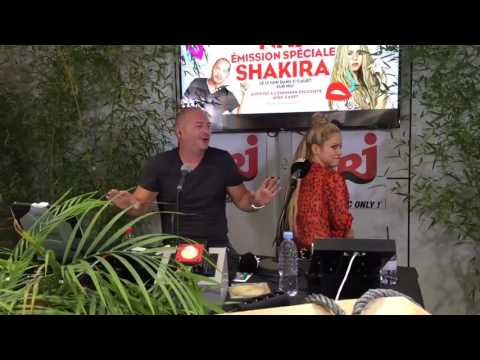 Shakira at the NRJ radio event in France