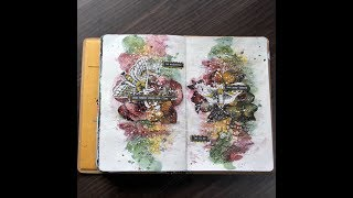 How to Make a Mixed Media Art Journal with Scrapbook Paper