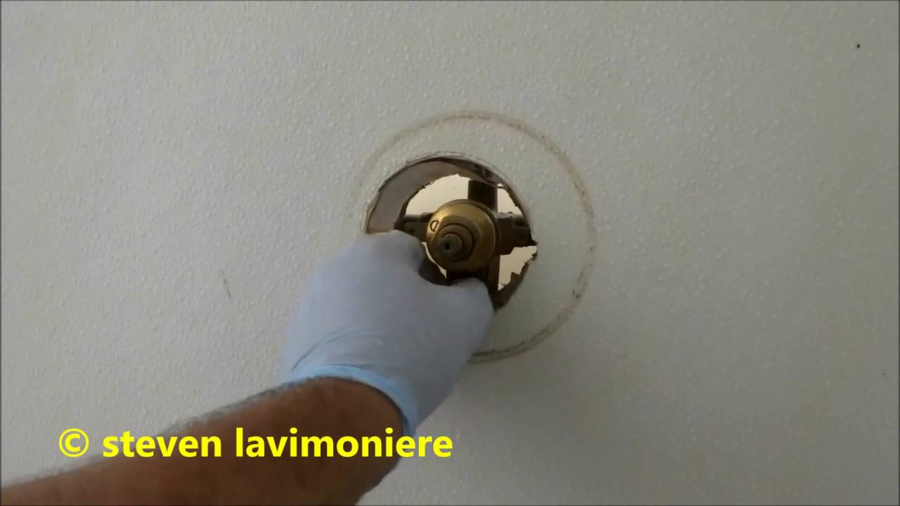 tub/ shower valve repair, no water coming out - YouTube