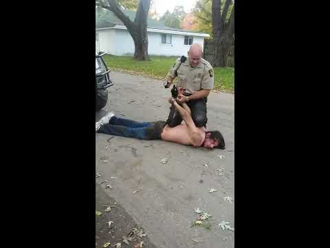 Allegan County Michigan Police Brutality by Deputy Buete on a mentally disabled Travis Dee Brimhall