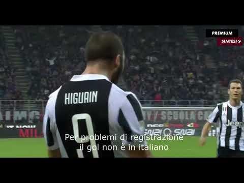 Highlight AC Milan vs Juventus all GOALS- (2:0) Gonzalo Higuain borong 2 gool (28 Oktober 2017)