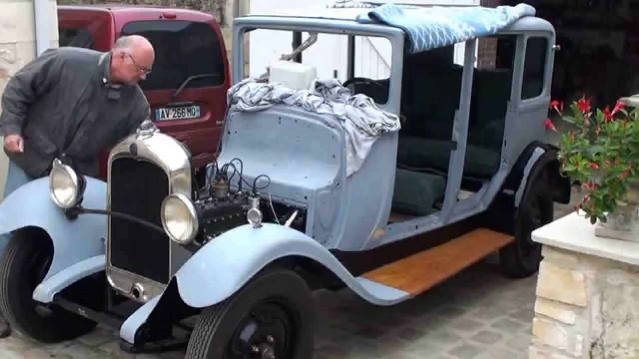 d233marrage moteur citroen ac4 en cours de restauration
