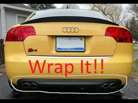 audi b7 s4 rear diffuser removal and wrap youtube. Black Bedroom Furniture Sets. Home Design Ideas