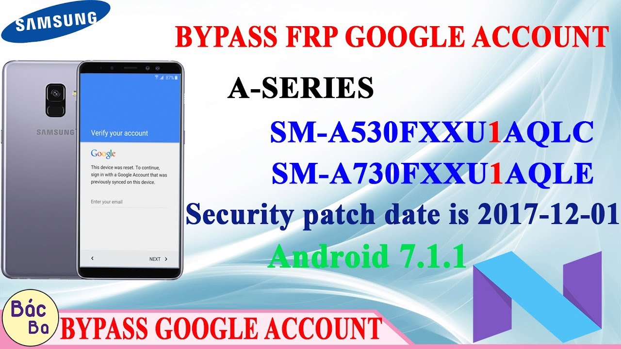 Bypass Frp Google Account A Series A8 8 Plus Sm A530f Sm A730f