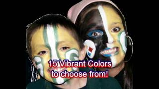 Big Game XLV Super Face Paint Football /Sports Fan Design.mpg Thumbnail