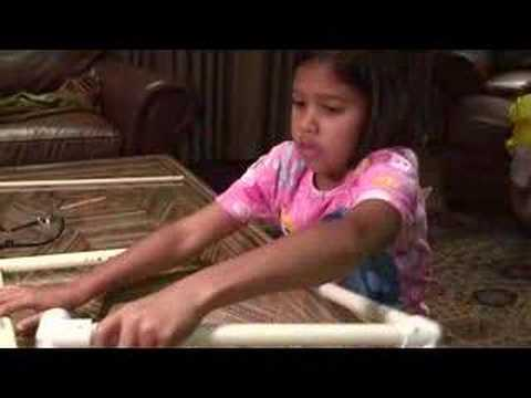 """Captioned as a """"2nd Grade project to make a homemade instrument,"""" Homemade Xylophone - Kids has been online since October, 2006, and is a…"""