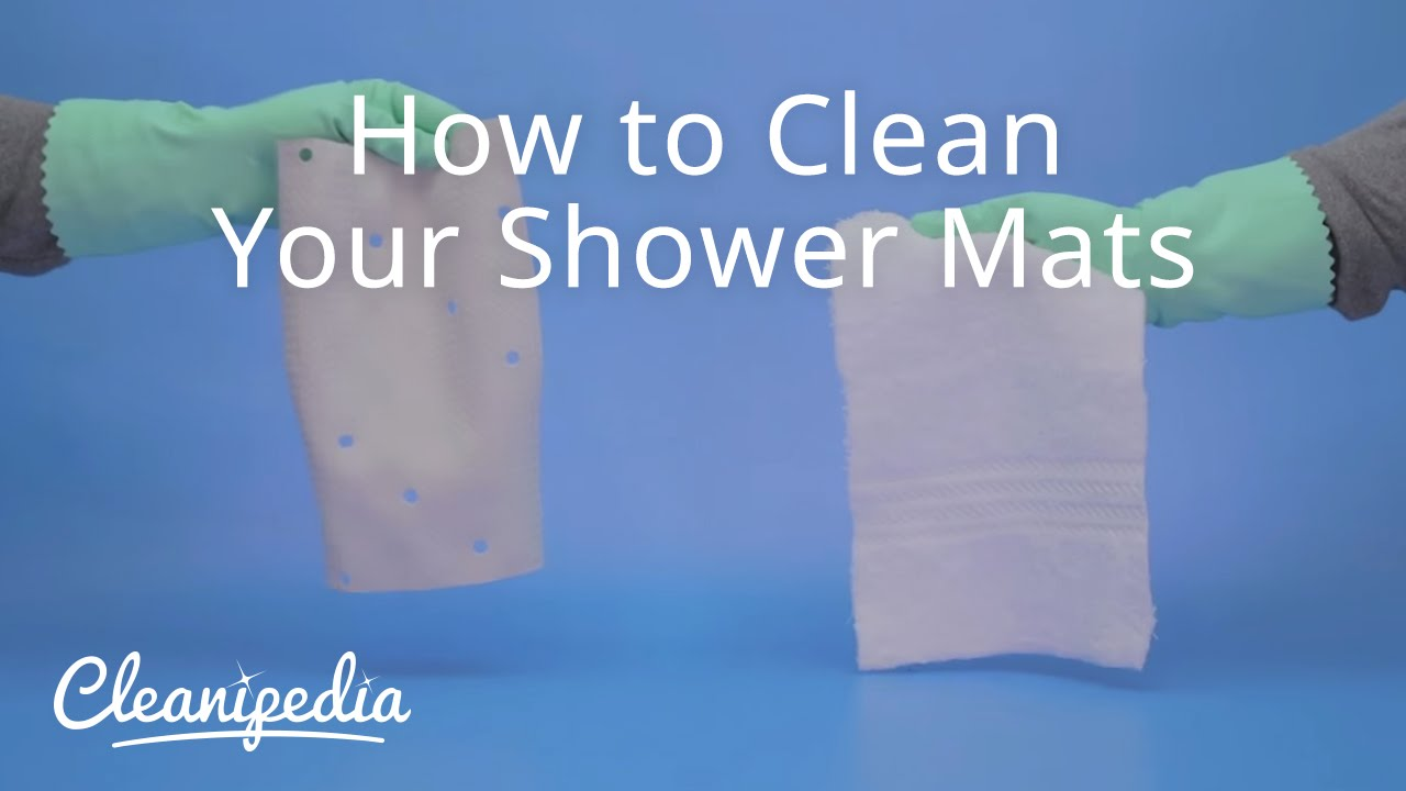 How To Clean Your Shower Mats   YouTube