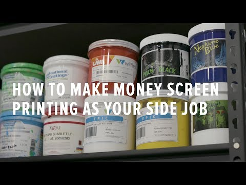 How to Make Money Screen Printing as your Side Job