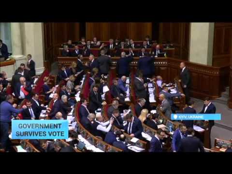 Ukrainian Government Survives No-Confidence Vote: This avoids government collapse and snap election