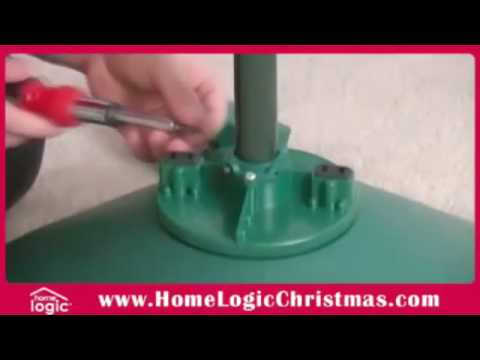 How to setup the Home Logic Rotating Christmas Tree Stand - YouTube