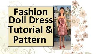 Free Fashion Doll Dress Pattern & Tutorial