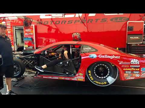 Erica Enders pro stock warm up
