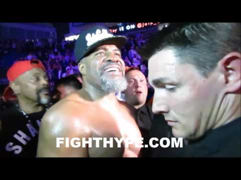 Shannon Briggs Gets Restrained and Carried Away After Bumrushing Security To Get At David Hayes