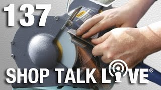 STL 137: Paring chisels and bench grinder tips