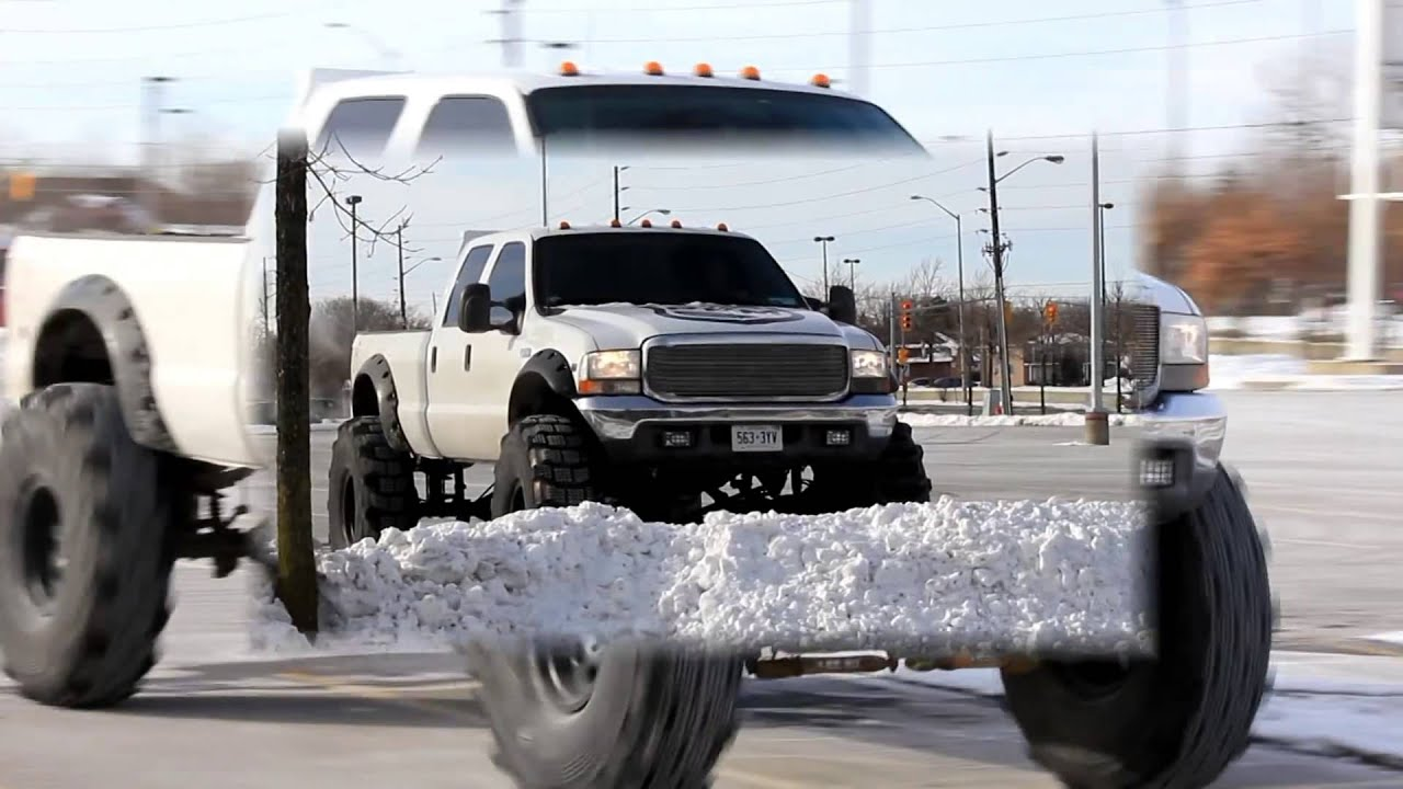 ford 350 Super Duty with 54 inch tires and 18 inch lift ...