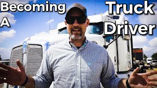 Becoming a Truck Driver | My Story of Truck Driving | EXCITING NEWS!