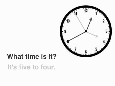English Lessons: WHAT TIME IS IT? (telling the time)