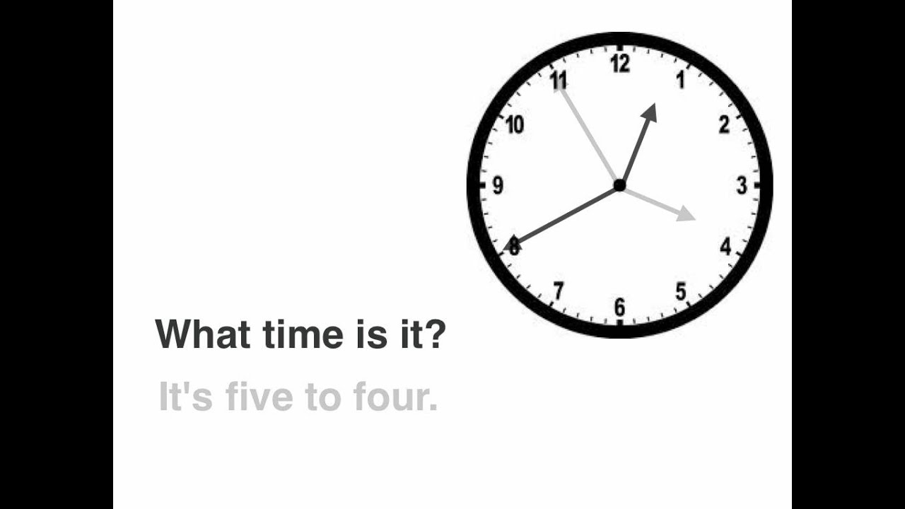 03b92b84e6 English Lessons: WHAT TIME IS IT? (telling the time) - YouTube