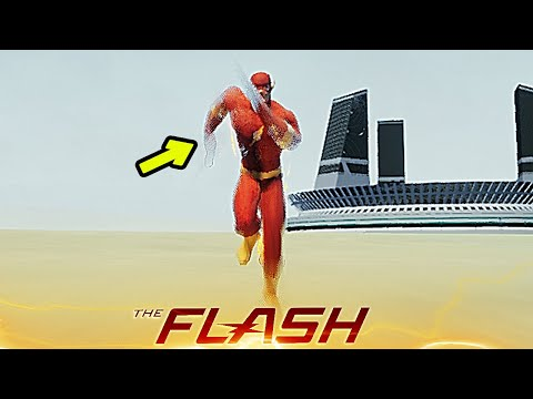 THE FLASH RUNS AT SPEED OF LIGHT & PUSH PEOPLE & RUN AWAY! (Crisis on Earth One Gameplay)