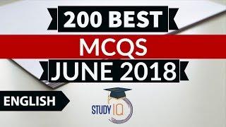 200 Best current affairs JUNE 2018 in ENGLISH Set 2  - IBPS PO/SSC CGL/UPSC/KVS/IAS/RBI Grade B 2018
