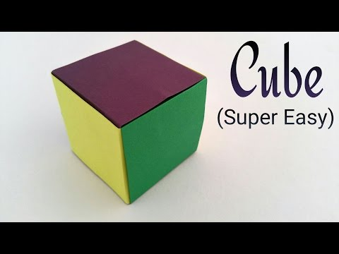 Simple & Easiest CUBE on Earth - Modular Origami Tutorial by Paper Folds ❤️
