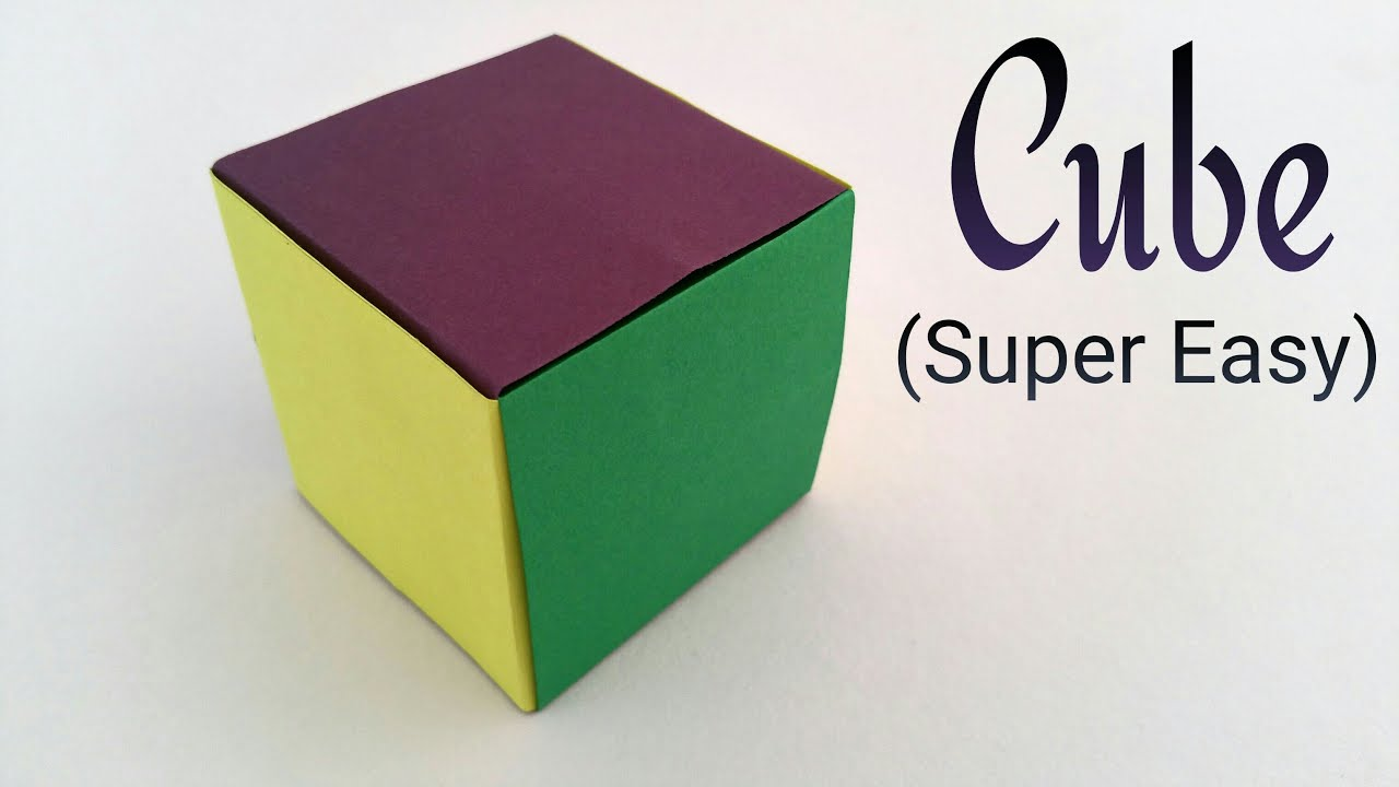 Simple Easiest Cube On Earth Modular Origami Tutorial