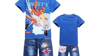 Детский летний костюм двойка на мальчика (Футболка + джинсовые шорты). Купить на AliExpress.(Информация о лоте: Ссылка на лот: http://goo.gl/f3LqIN Стоимость: US $9.30 - 9.98 (в зависимости от размера) Реально приеха..., 2015-05-01T19:05:05.000Z)