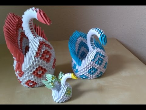 3D Origami Mini Schwan Beginner
