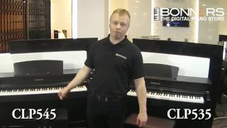 Yamaha CLP545 vs CLP535 Digital Piano Comparison Bonners Music UK