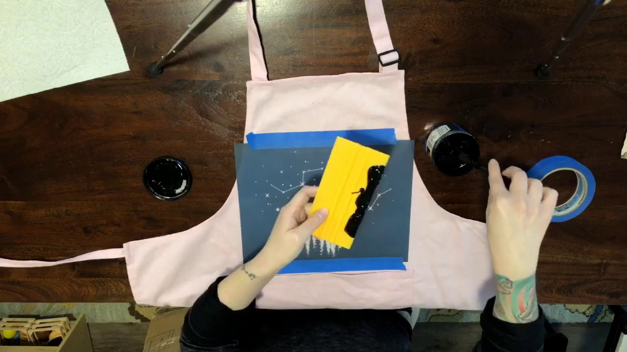 19d7d7b3 Time Lapse DIY Screen Printing on Fabric - YouTube