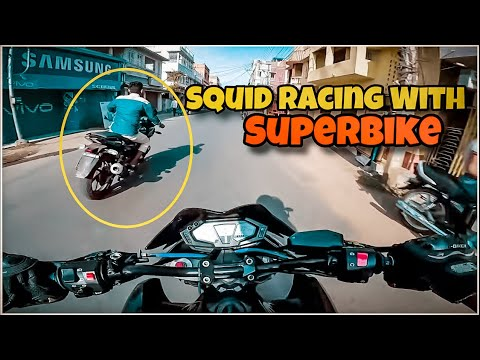 Squid Wants To RACE With Superbike😡