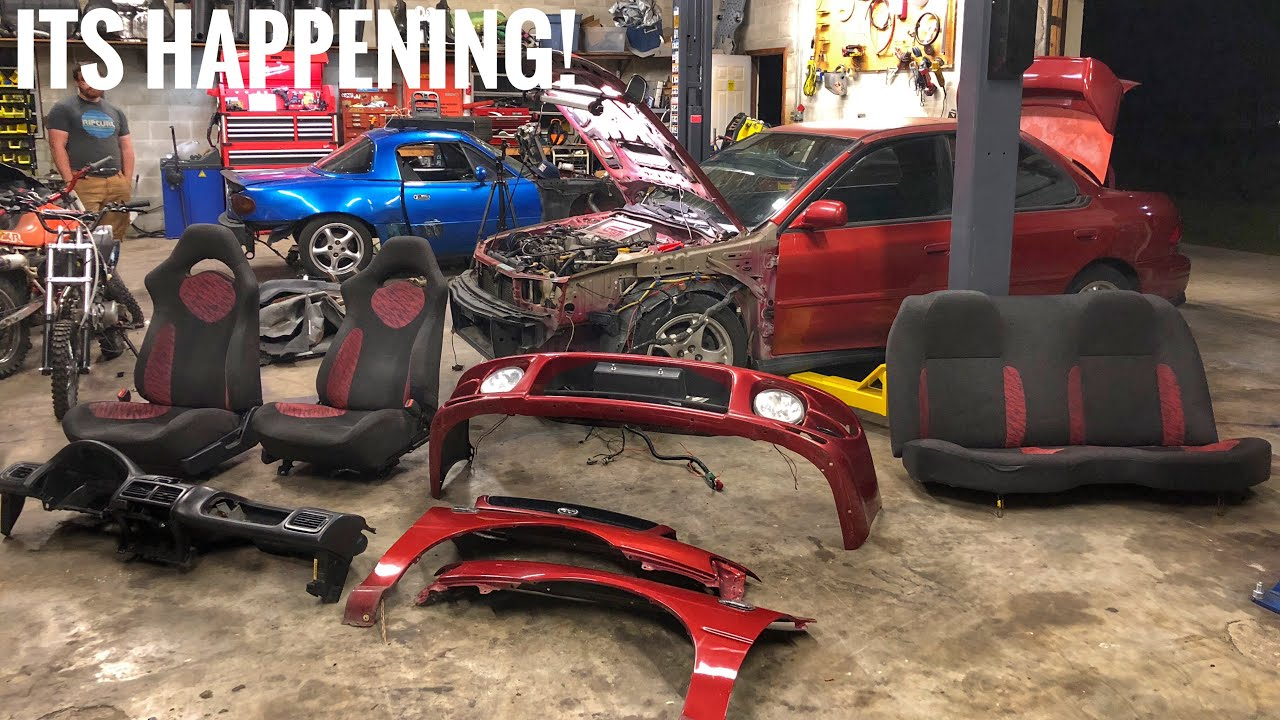 EJ20 GC8 Build! Stripping Out ALL the Wiring!